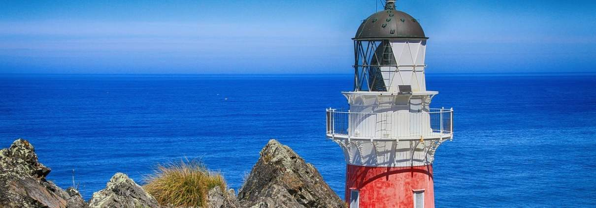 Foto mit Leuchtturm