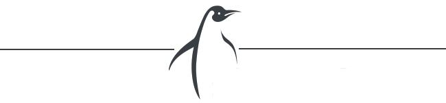 Trennlinie mit Pinguin