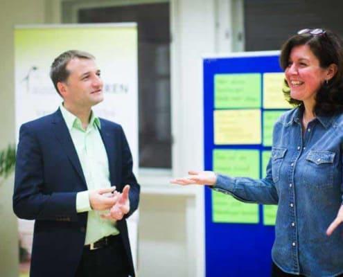 Foto: Ralph und Veronika im Seminar